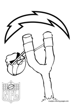 San Diego Chargers NFL Coloring Pages