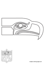 Seattle Seahawks Logo NFL Coloring Pages