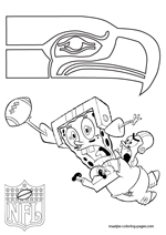 Seattle Seahawks NFL Coloring Pages