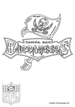 Tampa Bay Buccaneers Logo NFL Coloring Pages