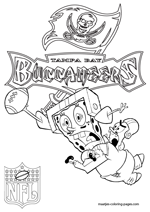 Tampa Bay Buccaneers NFL Coloring Pages