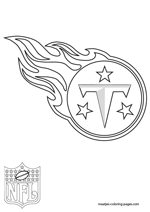 Tennessee Titans Logo NFL Coloring Pages