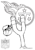 Tennessee Titans NFL Coloring Pages