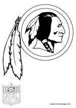 Washington Redskins Logo NFL Coloring Pages