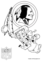 Washington Redskins NFL Coloring Pages