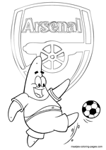 Arsenal and Patrick Star coloring pages