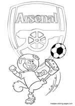 Arsenal and Sandy coloring pages