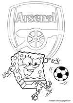 Arsenal and Spongebob coloring pages