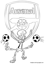 Arsenal and Squidward coloring pages