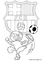 FC Barcelona and Sandy coloring pages