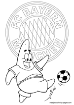 FC Bayern Munich and Patrick Star coloring pages