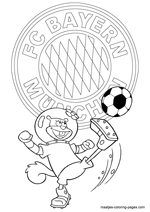 FC Bayern Munich and Sandy coloring pages