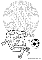FC Bayern Munich and Spongebob coloring pages