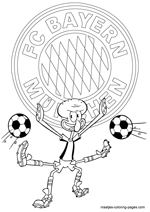 FC Bayern Munich and Squidward coloring pages