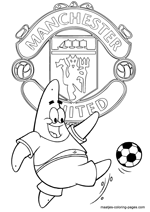 Manchester United and Patrick Star coloring pages