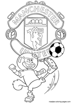 Manchester United and Sandy coloring pages