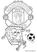 Manchester United and Spongebob coloring pages
