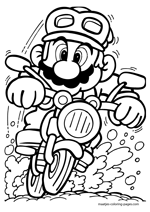 Super Mario motorcycling