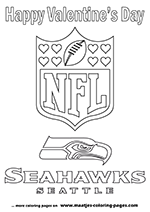 Superbowl Valentine's Day coloring pages