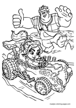 Ralph and Vanellope in a car